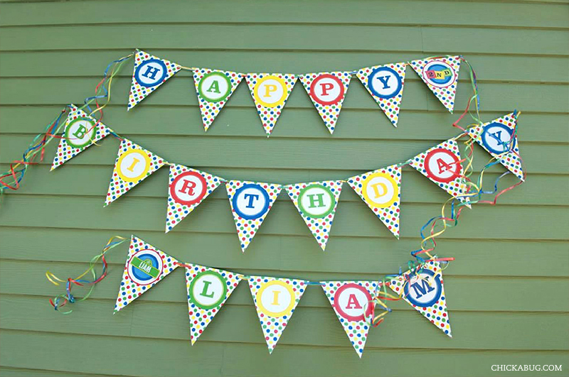 Sesame Street birthday party - printable banner from Chickabug.com