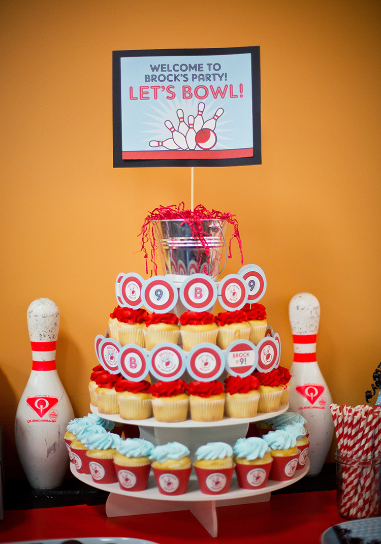 Bowling birthday party! Printables from Chickabug
