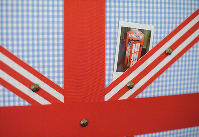 """London Calling"" 2nd birthday party - Union Jack photo display board"