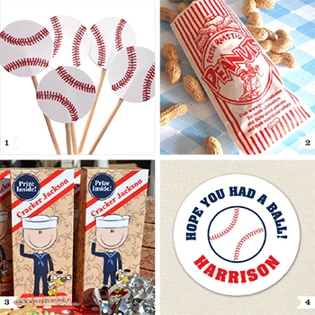 Baseball party decor and favor ideas. Batter up!! : )