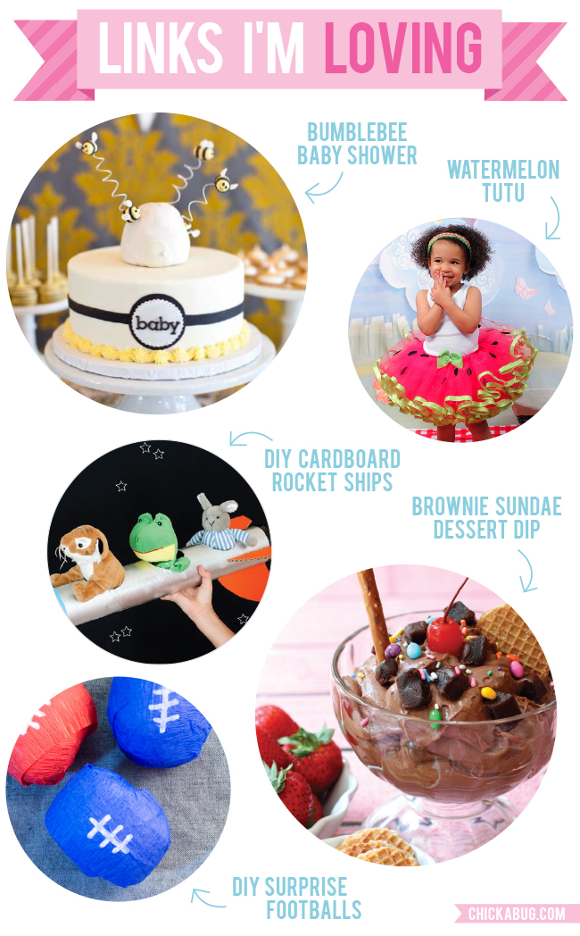 Links I'm Loving: Bumblebee baby shower, brownie sundae dessert dip, and more!