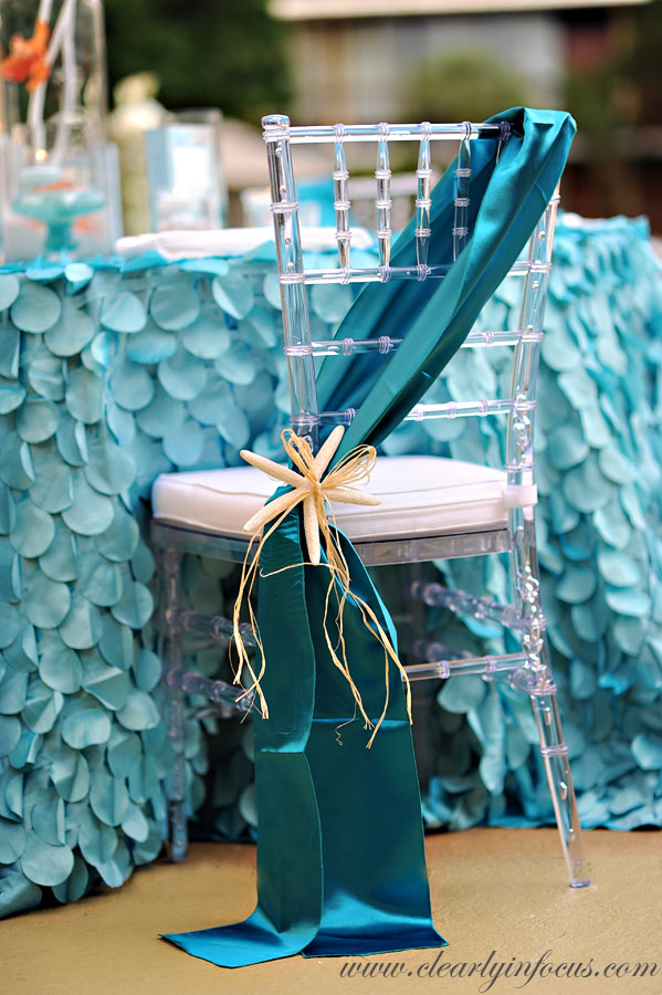 Mermaid party ideas Glamorous party chair