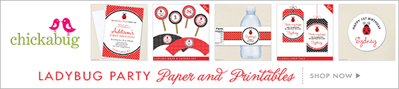 Ladybug theme paper goods & printables from Chickabug - www.chickabug.com