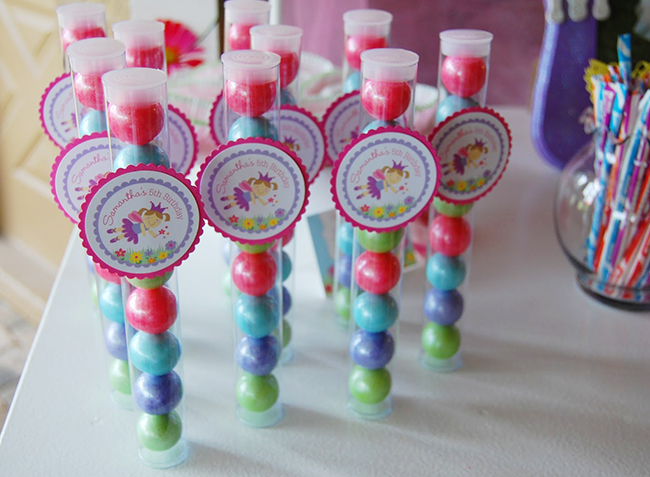 Garden fairy theme birthday party favors - printables from Chickabug