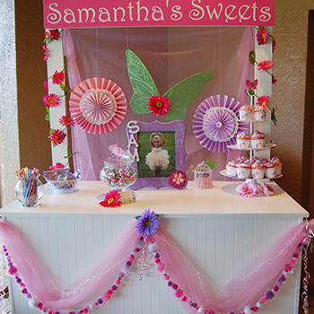 Garden fairy theme birthday party