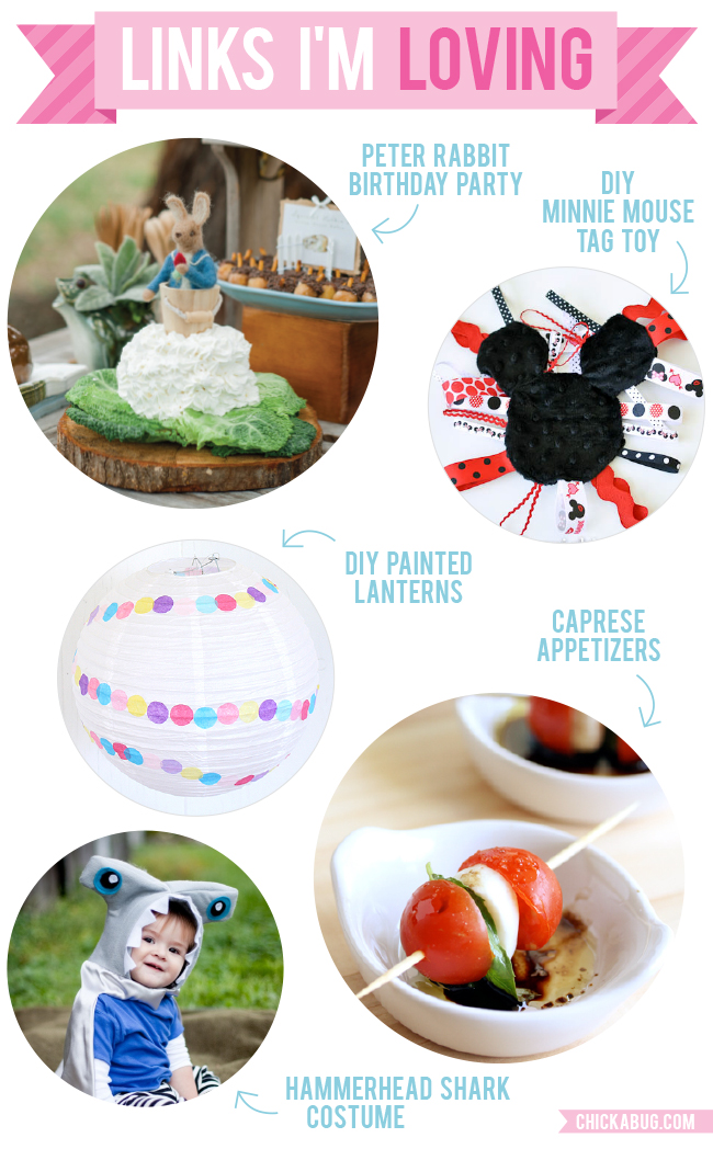 Links I'm Loving: Peter Rabbit birthday party, DIY Minnie Mouse tag toys, and more!