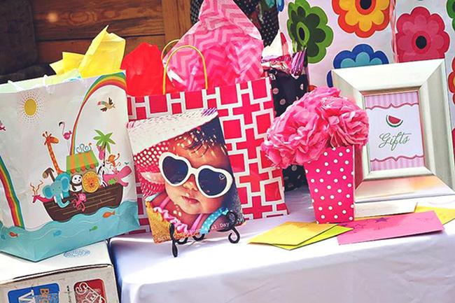 Watermelon theme birthday party ideas