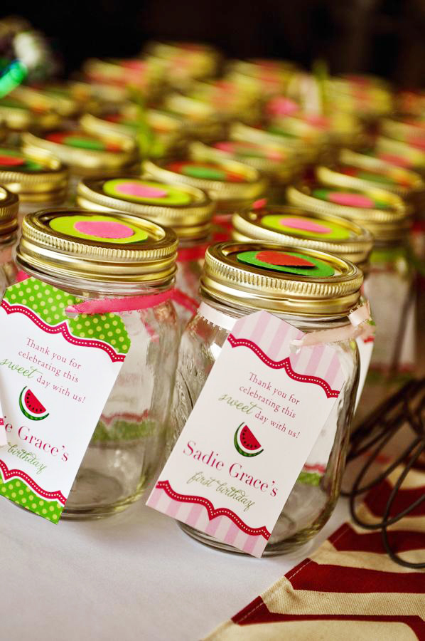 Watermelon theme birthday party - printable favor tags from Chickabug