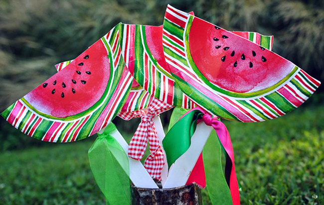 Watermelon theme birthday party decor ideas