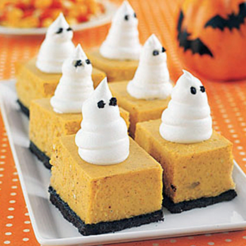 Pumpkin cheesecake ghost bars