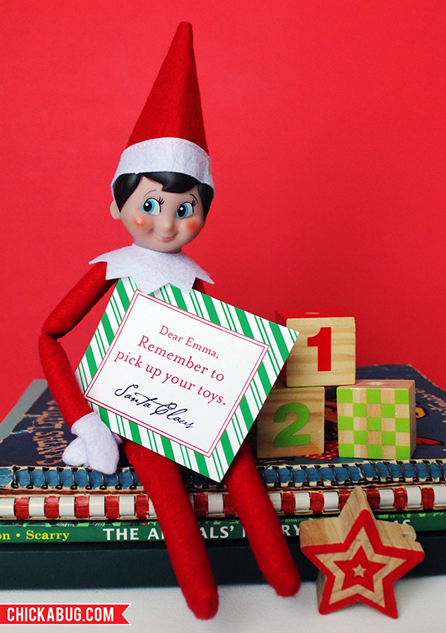 ... - So cute and PERFECT for your Elf on the Shelf! www.chickabug.com