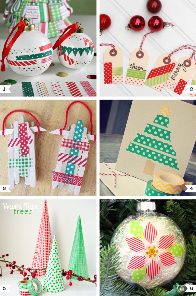 Washi tape christmas crafts chickabug for Crafts with washi tape