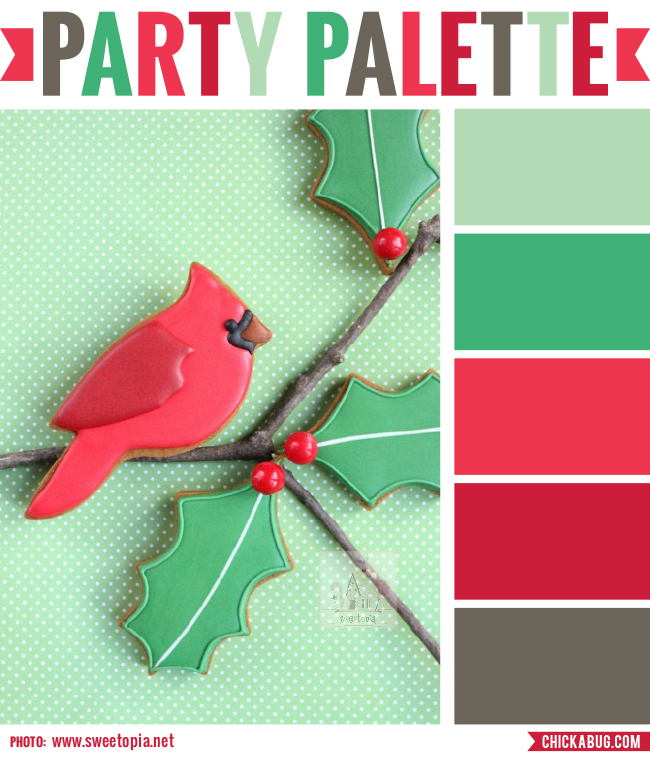 Party Palette Christmas Cardinal Cookies Chickabug