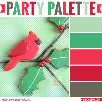 Party palette: Red and green color inspiration for Christmas or winter parties #colorpalette
