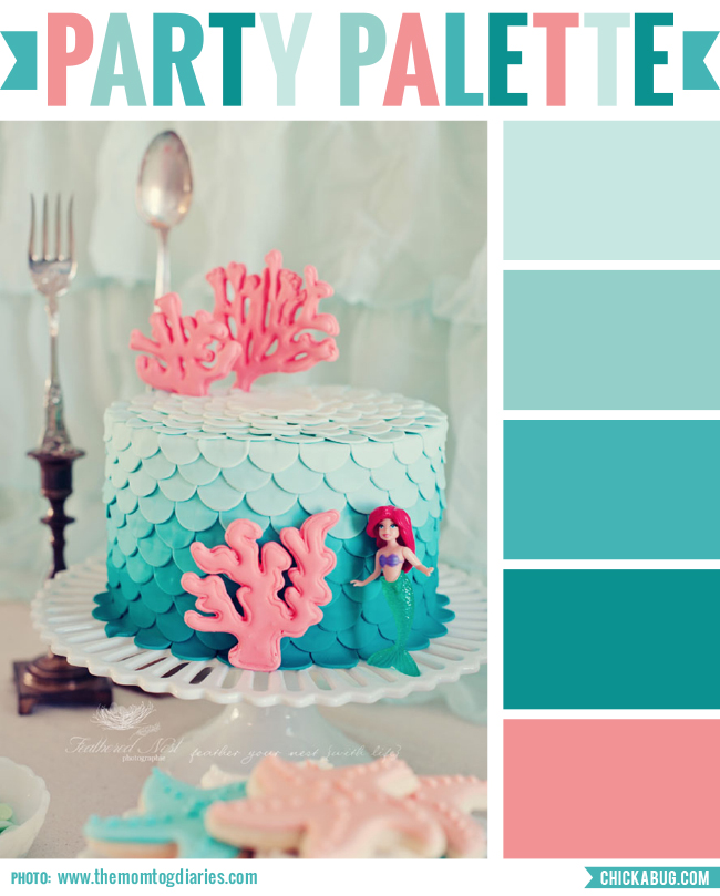 This gorgeous ombre petal cake is the inspiration for a turquoise and