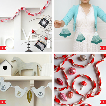 10 pretty DIY Christmas garlands