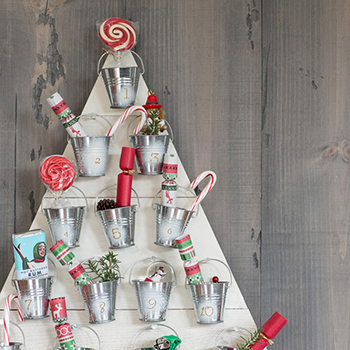 DIY wooden advent calendar by Sugar and Charm