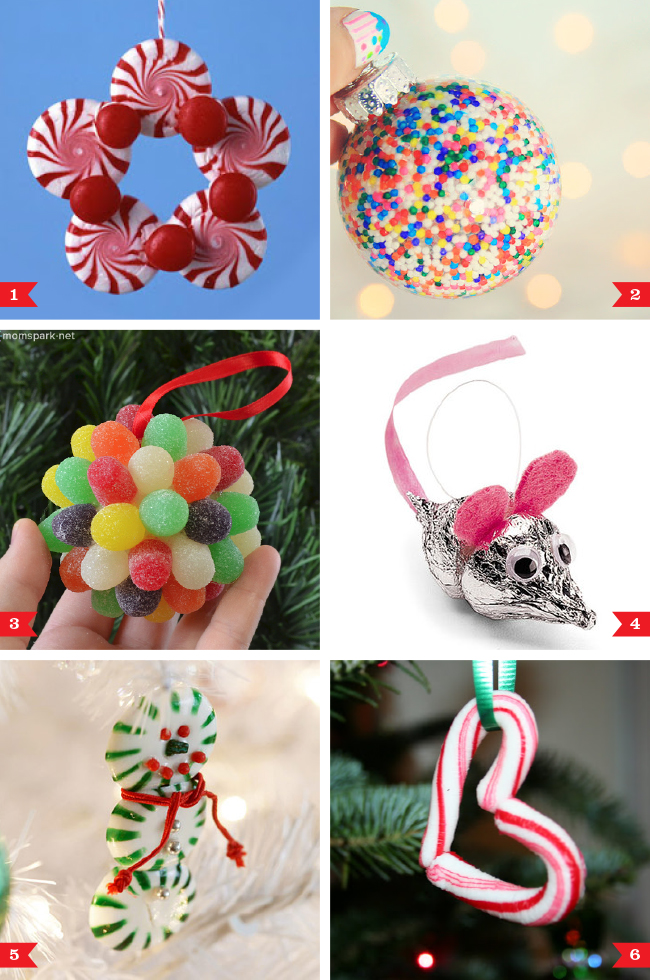 DIY Christmas ornaments made from candy | Chickabug