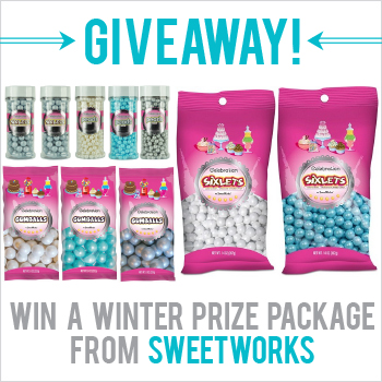 Giveaway! Win a winter prize package from SweetWorks - perfect for winter parties, entertaining, and birthdays! Enter by 1.12.14 at midnight EST