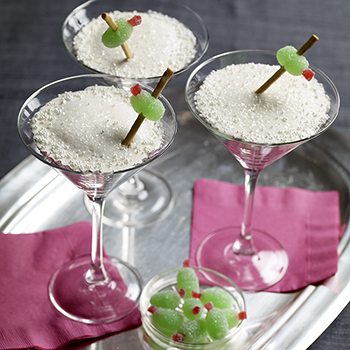 Martini cupcakes for New Year's Eve