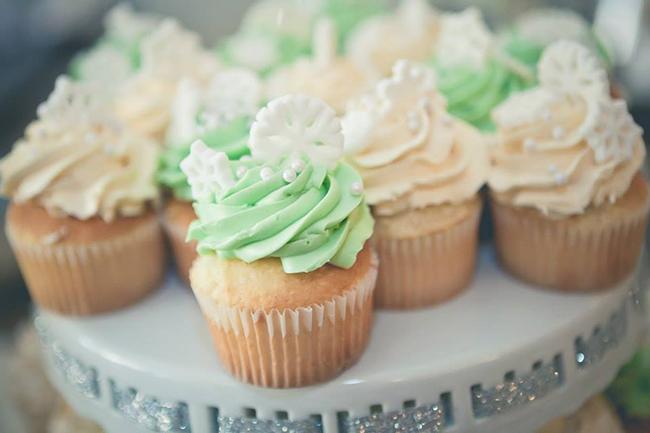 Winter One-derland Birthday Party - cupcakes