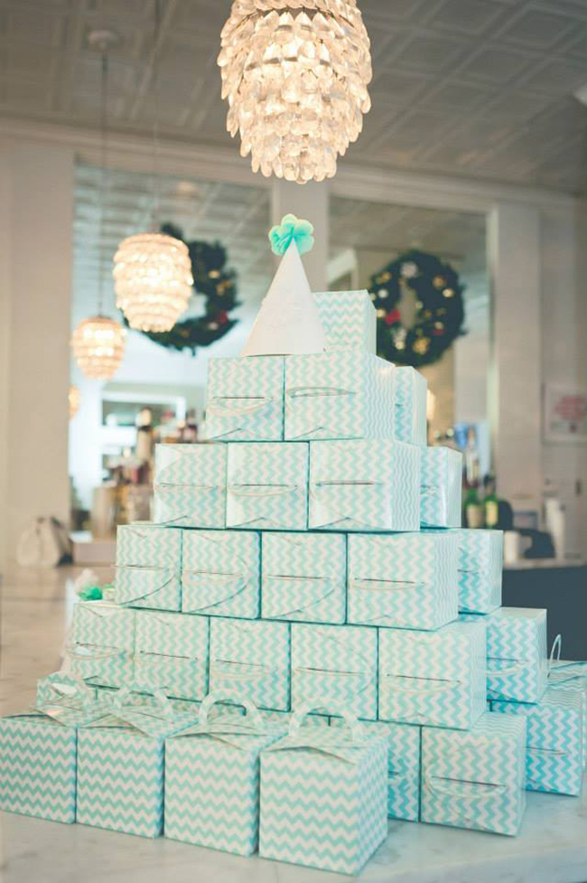 Winter One-derland Birthday Party - favor boxes
