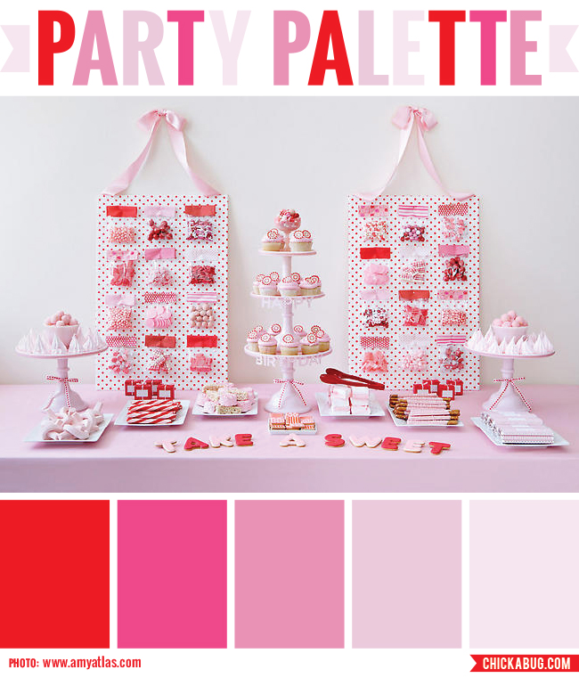 Party Palette: Color inspiration for a Valentine's Day party #colorpalette