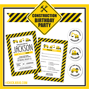 Construction theme party