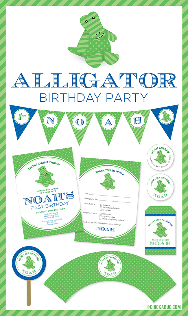 New in the shop: Alligator theme party! | Chickabug