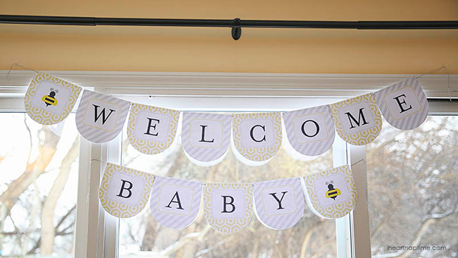 """What will it BEE?"" baby shower with free printables!"
