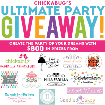 Chickabug's Ultimate Party Giveaway! Create the party of your dreams with $800 in prizes from 12 amazing shops!