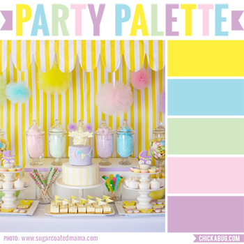 Party Palette: Pastel pop baby shower in vibrant pastels #colorpalette