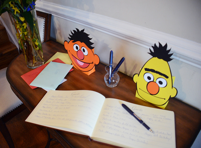 Sesame Street 2nd birthday party guest book