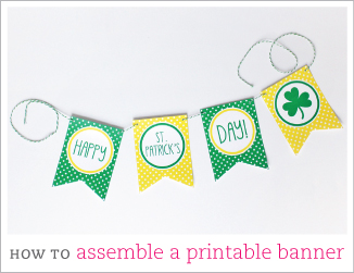How to assemble a DIY printable banner