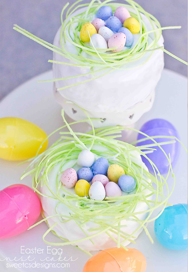 Easter egg nest cakes
