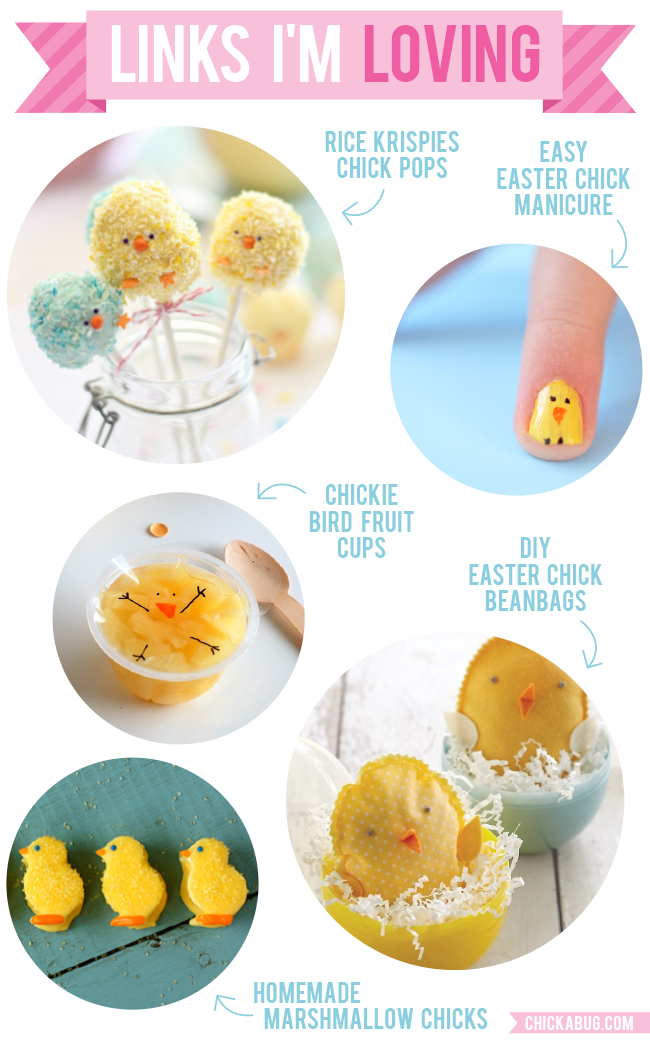 Links I'm Loving: Adorable Easter chick crafts and recipes