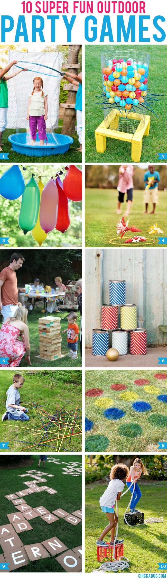 10 Super Fun Outdoor Party Games Chickabug