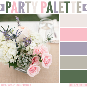 Party Palette: Rustic color combination with pink and lavender #colorpalette
