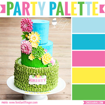 Party Palette: Color inspiration in aqua, pink, yellow and spring green #colorpalette