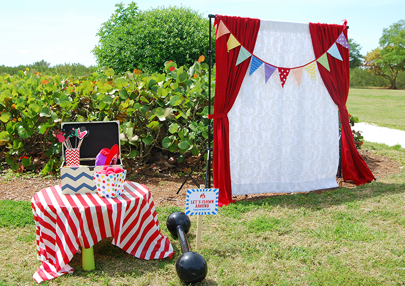 Carnival theme photo booth