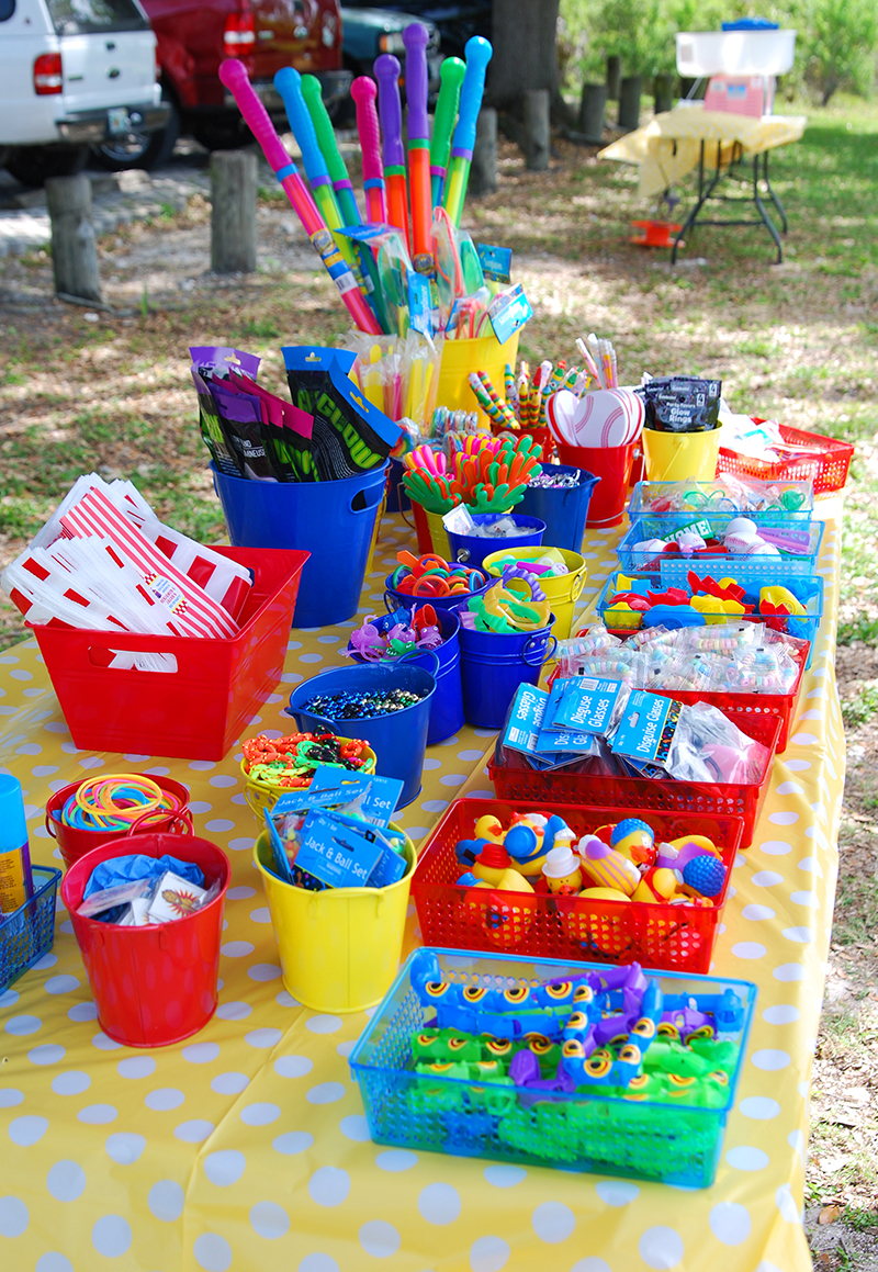 Carnival theme party prize table
