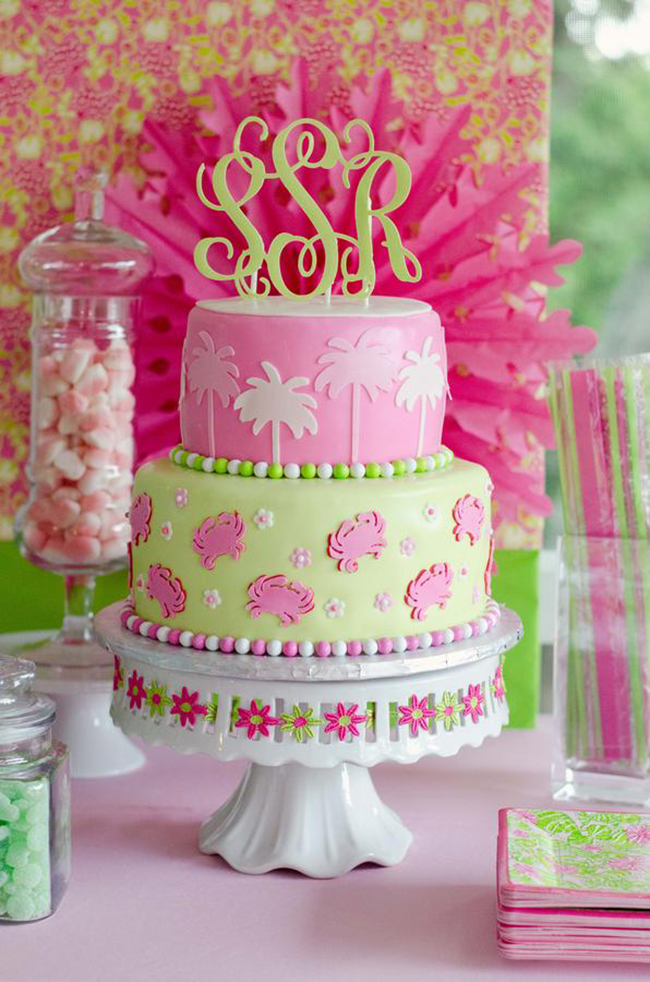 Gorgeous Lilly Pulitzer birthday cake