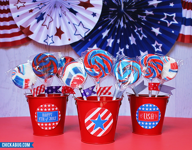 Free printable circles for the 4th of July #chickabug