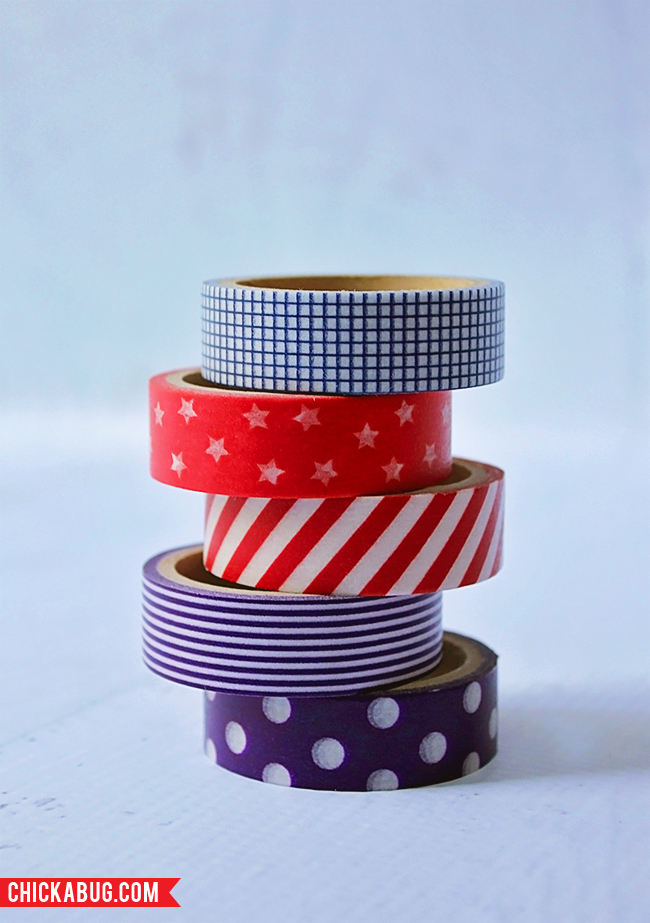Free printable circles for the 4th of July - washi tape from Oriental Trading