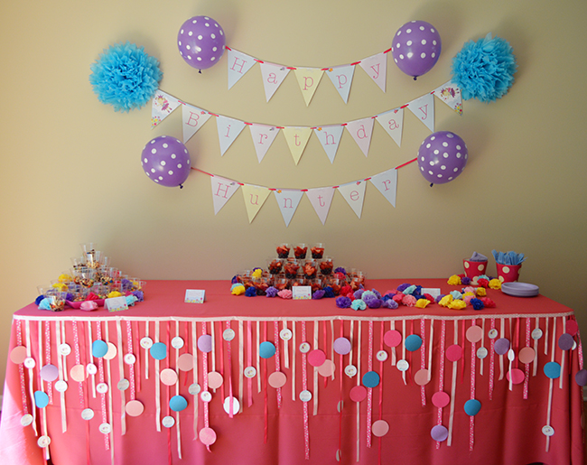 1st birthday party decorations at home Home decoration for birthday girl