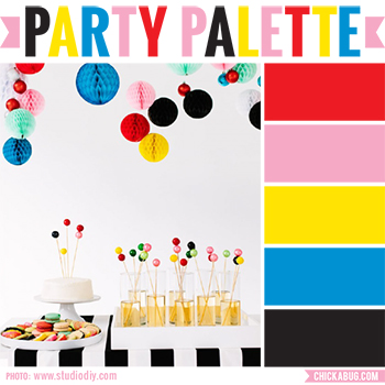 Colorful holiday party #colorpalette