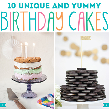 Unique and yummy birthday cakes - only one of which actually includes cake! Oreos, donuts, pancakes and more : )