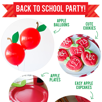 Quick and easy ideas for a little back to school party!
