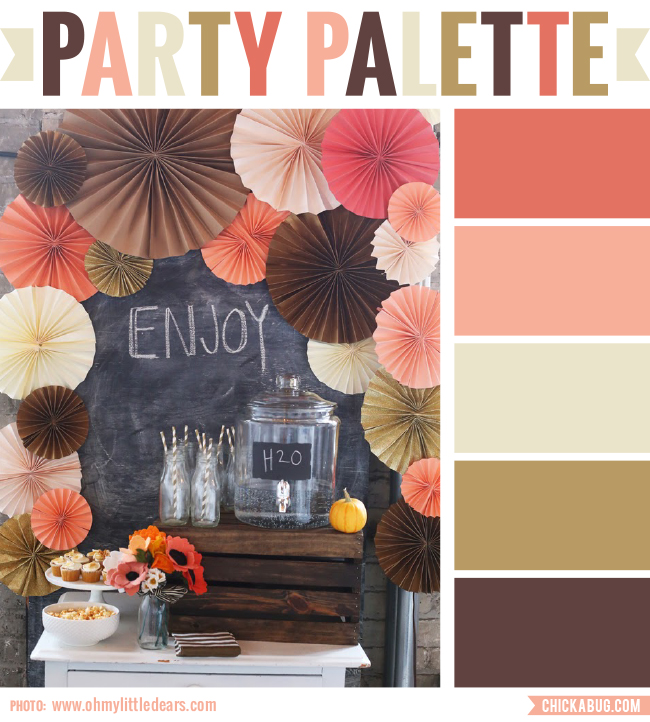 Fall party #colorpalette