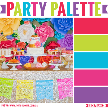 Fiesta baby shower #colorpalette